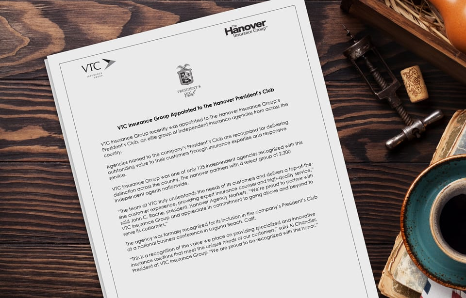 VTC Appointed to Hanover Presidents Club