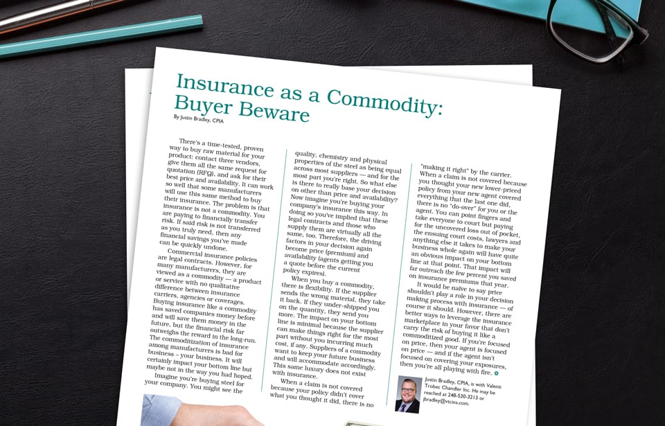 Insurance as Commodity
